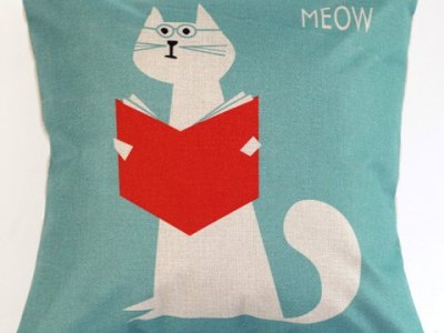 Katze Kissen meow