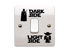 Star Wars Lichtschalter Aufkleber Vorschau