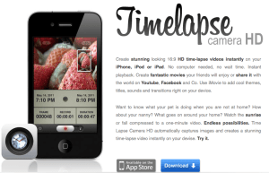 Timelapse Camera HD App for iPhone