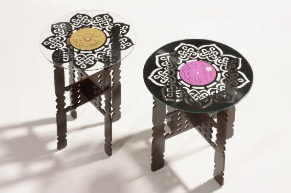vinyl record moroccan tables artwork