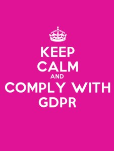 keep calm and comlpy with GDPR
