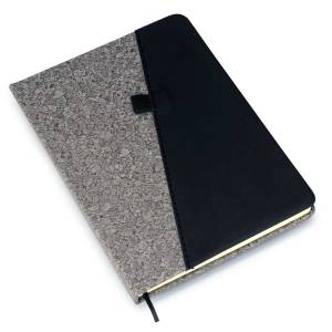Gray PU combi A5 notebook (Slash design)