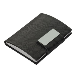 Card holder with clik on lock