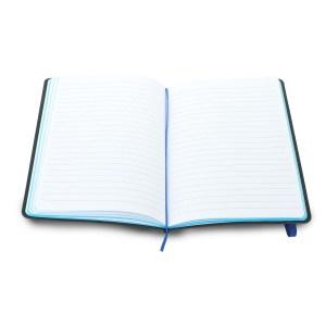 Neon notebook with zigzag stitch