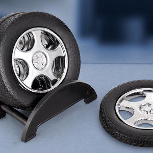 Tyrocoast: Tyre Shape Coaster Set With Stand (4 Pcs)