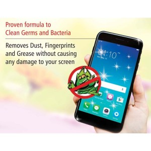 Power Plus Mobile sanitizer kit (Set of 50ml liquid and microfibre cloth)