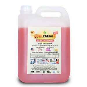 Wide Spectrum Surface Disinfectant | Germicidal, Deodorizer, Fungicidal | Formulated in USA | Tested Covid-19 protection upto 55 hours | 5 Ltr by Dr Radiant Plus