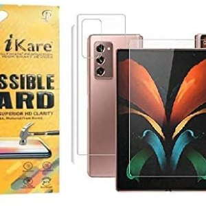 Anti Scratch Front and Back Fiber Impossible Screen Guard For SAMSUNG GALAXY Z FOLD 2-TRANSPARENT [Better Than Tempered Glass]