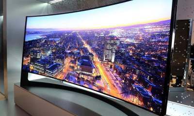 insanely huge curved smart tvs