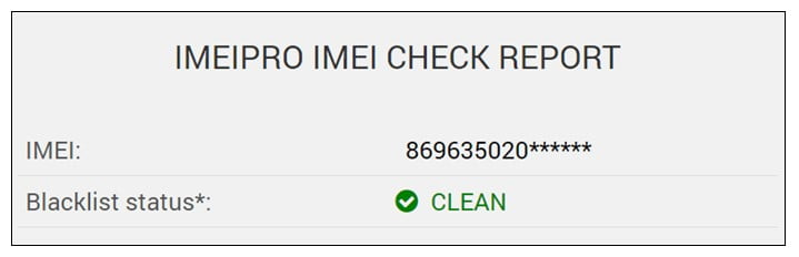 Check the IMEI info to ensure the phone's authenticity