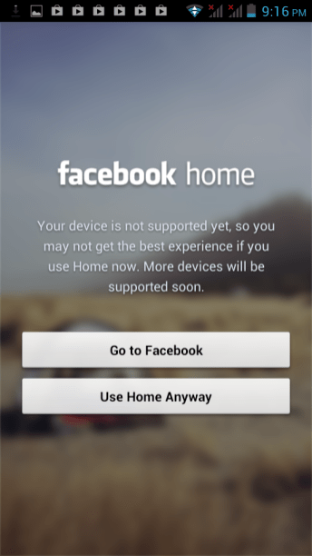 Facebook Home on O+ 8.6