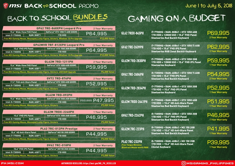 MSI back to school, June is one of best months to buy an MSI Laptop, Gadget Pilipinas, Gadget Pilipinas