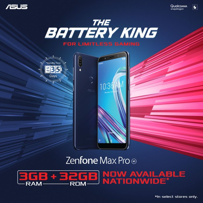 ZenFone Max Pro M1 3GB 32GB Variant Now Available