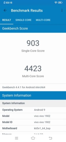 Geekbench 4 Single and Multi-Core