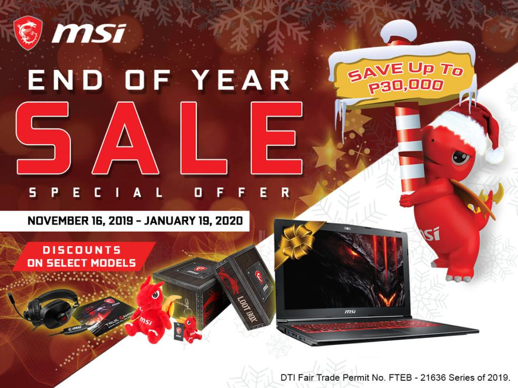MSI End of Year Sale, MSI Announces End of Year Sale, Alpha 15 Gaming Laptop Now Available in PH, Gadget Pilipinas, Gadget Pilipinas