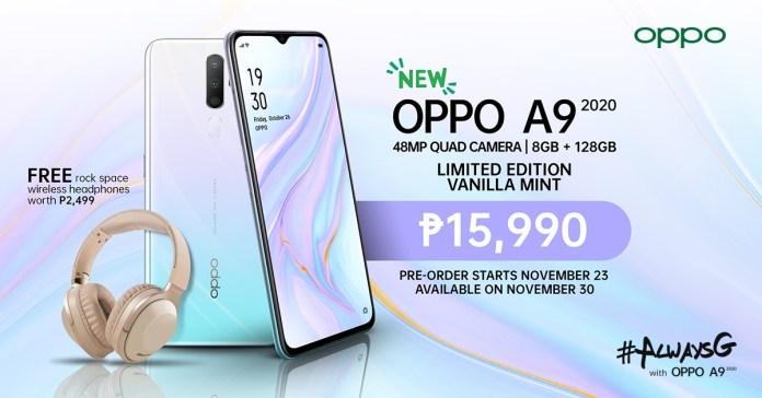 OPPO A9 2020 Vanilla Mint