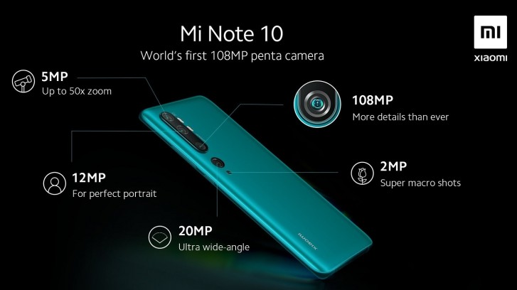 Xiaomi Mi Note 10 five cameras, Xiaomi Mi Note 10 has Five Rear Cameras, 108MP Main Sensor, Gadget Pilipinas, Gadget Pilipinas