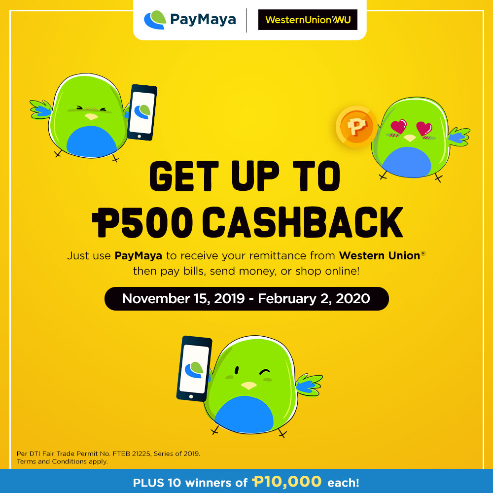 PayMaya Western Union, Get Up to PhP1,500 Cashback When Receiving Western Union Remittance with PayMaya!, Gadget Pilipinas, Gadget Pilipinas