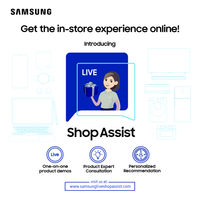 Samsung Live Shop Assist KV