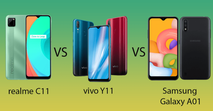 realme C11 vs vivo Y11 vs Galaxy A01