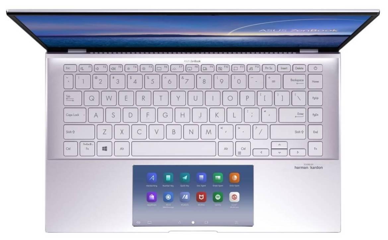 ZenBook 14_UX435EA_EG_Lilac Mist_ASUS ScreenPad