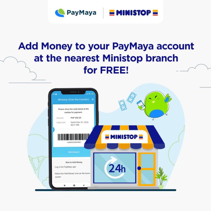 PayMaya Add Money via Ministop