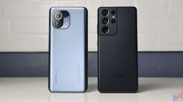 Xiaomi Mi 11 and Samsung Galaxy S21 Ultra 5G - Rear Panel and Cameras