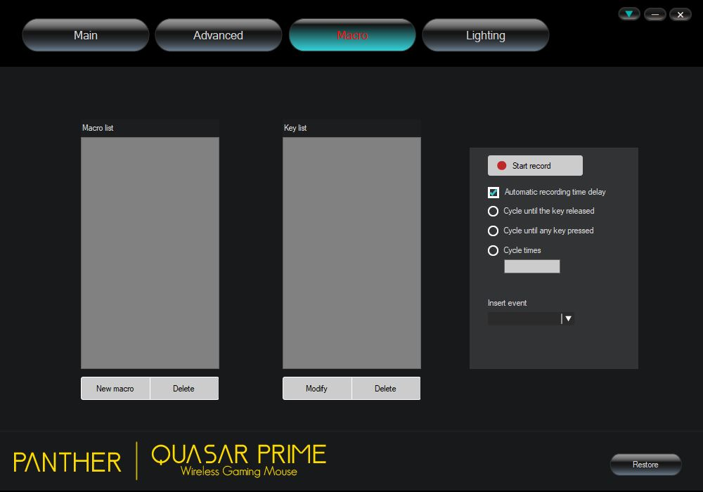 Panther Quasar Prime Wireless Gaming Mouse Review - Software 3