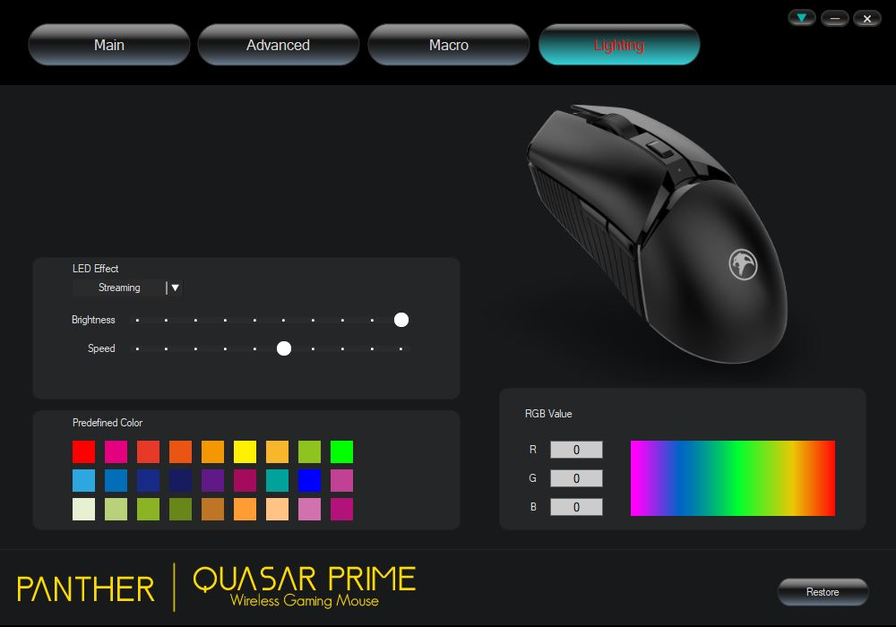Panther Quasar Prime Wireless Gaming Mouse Review - Software 4