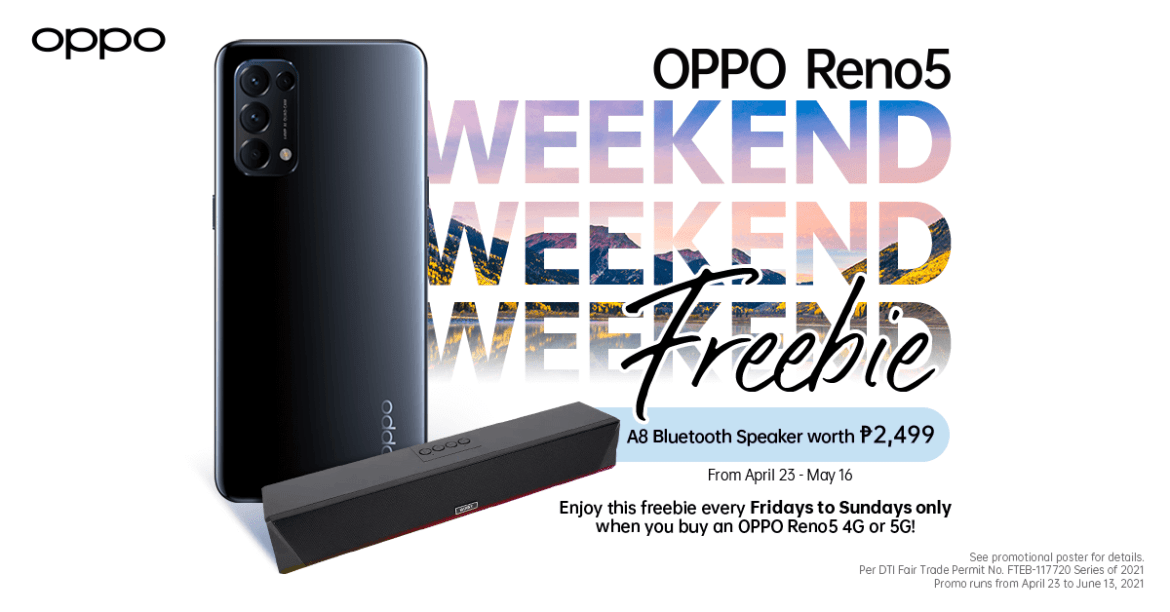 Reno5 4G and 5G Weekend Promo - 1