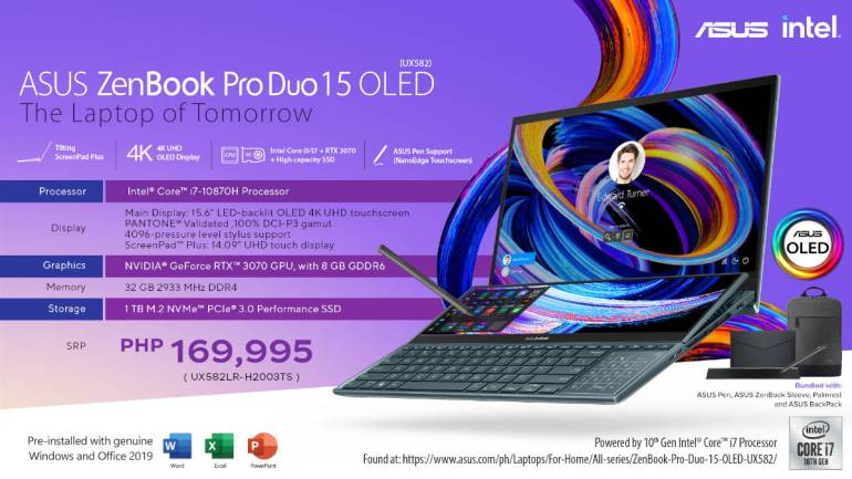 ASUS ZenBook Pro Duo 15 OLED i7 variant