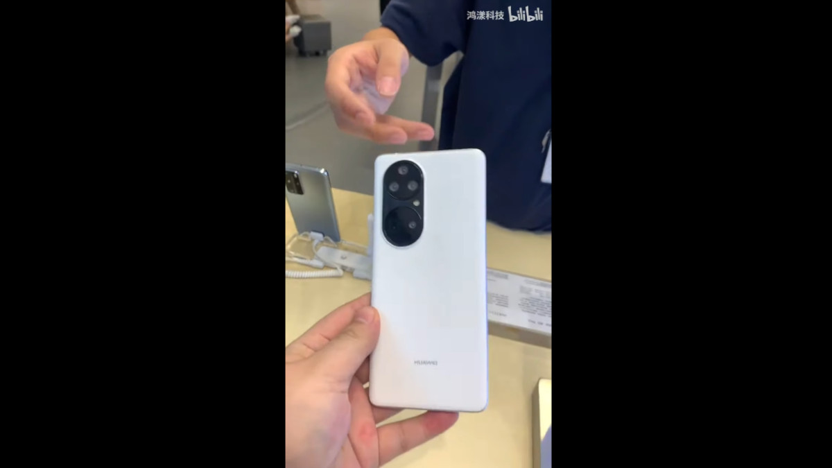 Huawei P50 Pro Dummy Unit Hands-on Video Surfaces