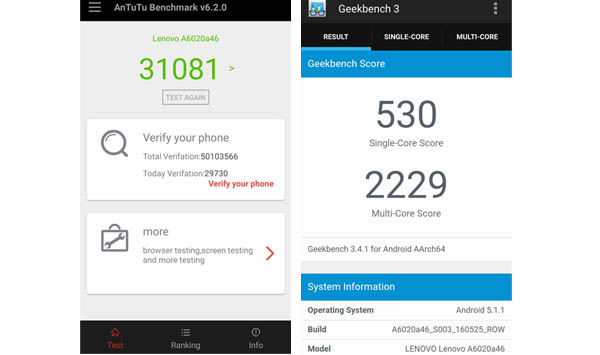 Hasil Benchmark Performa VIBE K5 Plus - Review Smartphone Lenovo Vibe K5, Punya Fitur Theater Max Dengan VR!