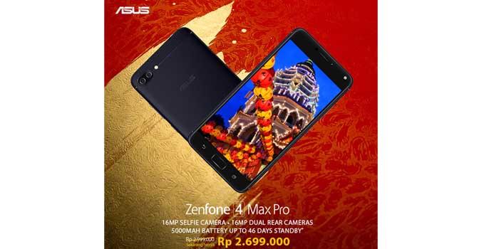 ASUS Zenfone 4 Max Pro turun harga