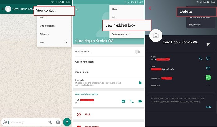 How to Delete Contacts on WhatsApp - Via Application