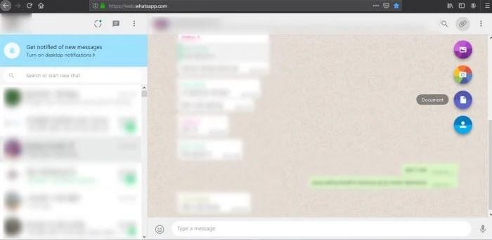 Langkah Mengirimkan File ke WhatsApp