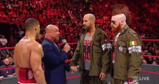 If Jason Jordan and Cesaro have issues to resolve… they'll be resolved IN THE …