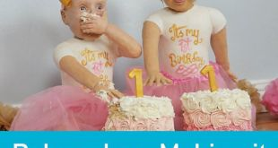 Mum makes life-sized baby cakes for her twin daughters' 1st birthday!(Via B...