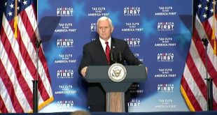 Vice President Mike Pence delivers keynote remarks at an America First Policies …