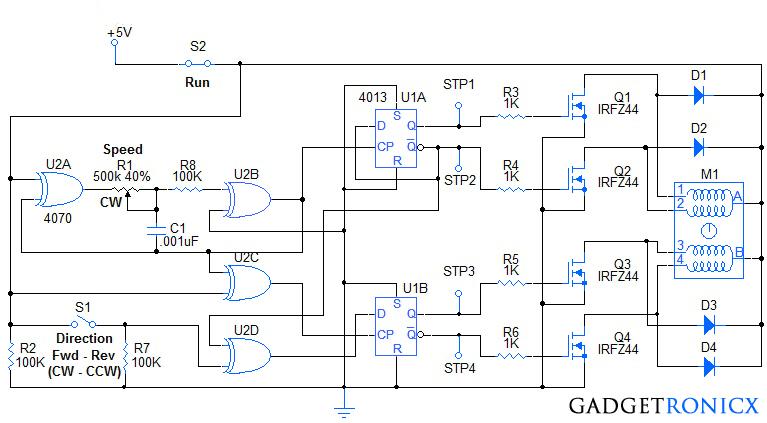 Stepper Motor Controller Circuit