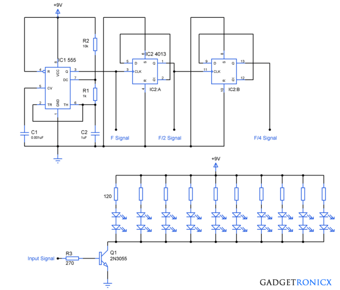 christmas tree lighting circuit diagram  gadgetronicx