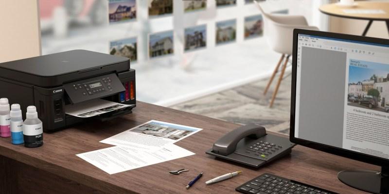 Canon PIXMA G6050 Printer on Desktop