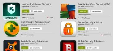 Best Five Antivirus Apps for Smartphones