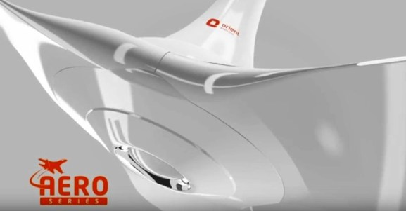 Orient Aeroquiet has the Aerodynamic Design