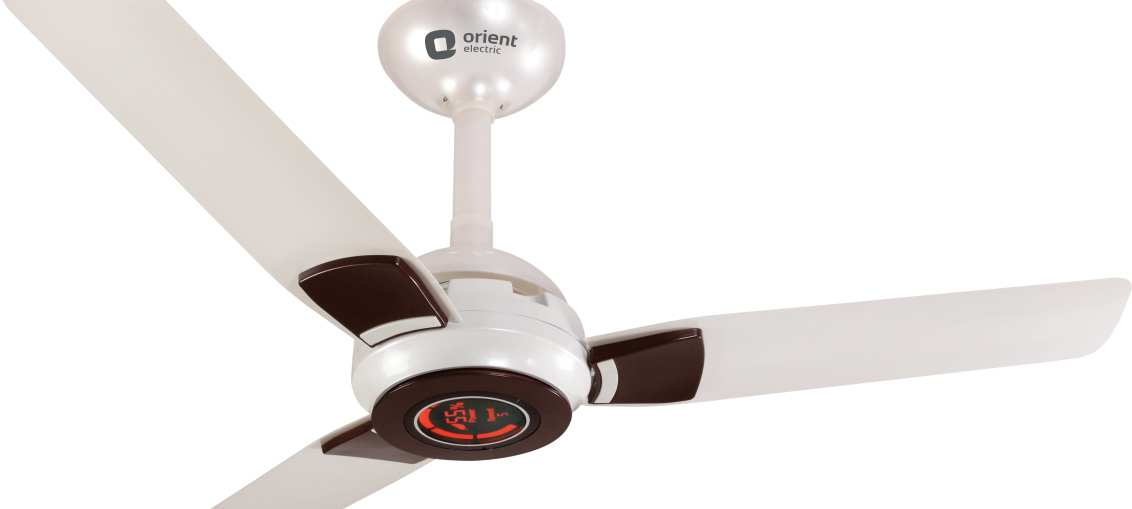 Orient ECOGALE Every Efficient Fan in Pearl-Metallic and White-Brown