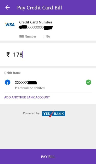 Pay Your Credit Card Bill on PhonePe