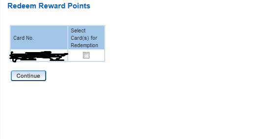 Select Your HDFC Credit Card to Redeem Reward Points