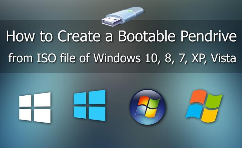 How to Make bootable Pendrive for Windows from ISO file