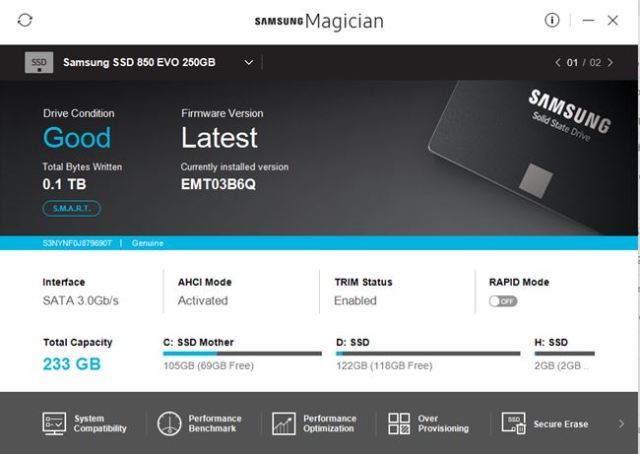 Samsung Magician For SSD Otpimization