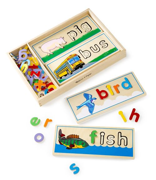 Melissa Doug Personalized See Spell Wooden Educational Toy